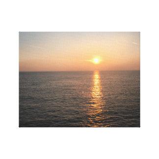 Toile Coucher du soleil sur l'eau