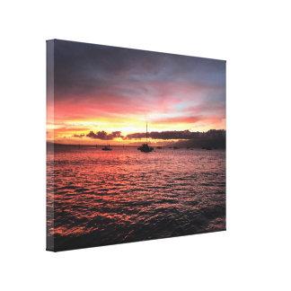 Toile Coucher du soleil sur Maui