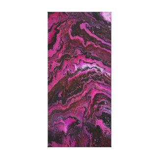 Toile Couches roses de roche