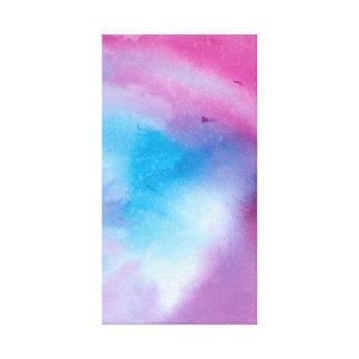 Toile Couleur pour aquarelle de marbre rose et bleue