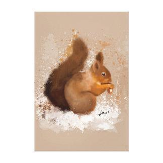 Toile Couleur pour aquarelle d'écureuil