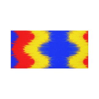 Toile couleurs chaudes de forme