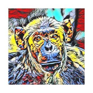 Toile Coup-de-pied de couleur - chimpanzé