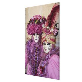 Toile Couples dans le costume de carnaval, Venise