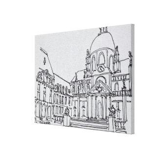 Toile Cour d'université de Sorbonne | de La de Paris