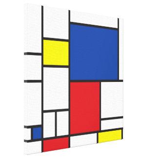 Toile Coutume minimaliste d'art moderne de Mondrian de