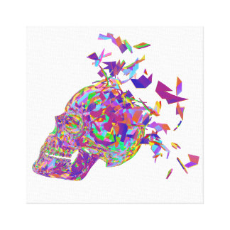 Toile Crâne de polygone d'abrégé sur explosion d'esprit