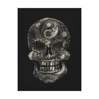 Toile Crâne de sucre de Yin-Yang