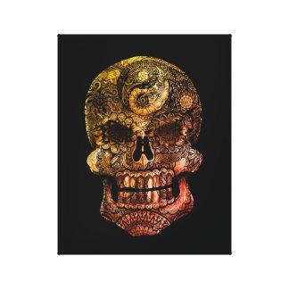 Toile Crâne de sucre de Yin-Yang 1974 - 11 x 14
