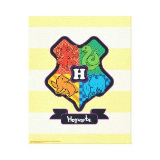 Toile Crête de Hogwarts de bande dessinée