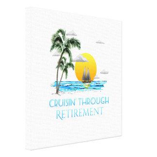 Toile Croisière nautique drôle par la retraite