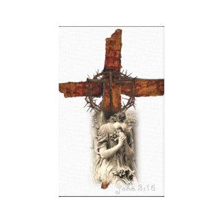 Toile Croix de 3h16 de John avec la couronne des épines