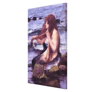 Toile Croquis pour une sirène par le château d'eau de J