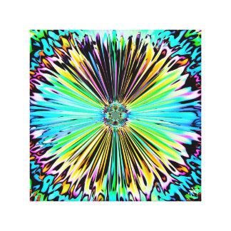 Toile Croquis psychédélique coloré d'une fleur 2