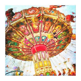 Toile Cru, rétro photo de tour d'oscillation de carnaval