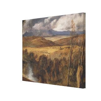 Toile Cru un paysage des montagnes par Edwin Landseer