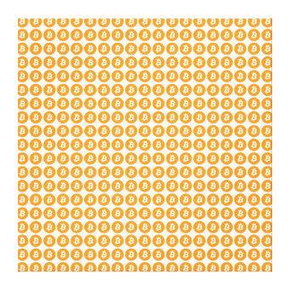 Toile Crypto logo de devise de Bitcoin