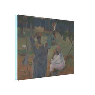 Toile Cueillette de fruit par Paul Gauguin