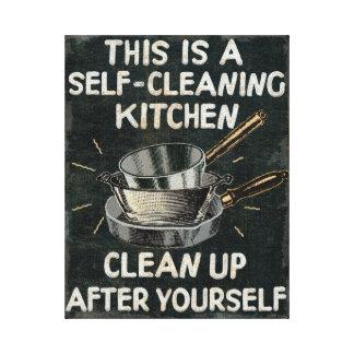 Toile Cuisine de nettoyage d'individu