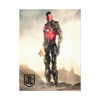 Toile Cyborg de la ligue de justice | sur le champ de