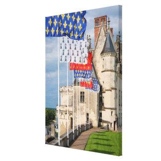 Toile d'Amboise de château et drapeau, France