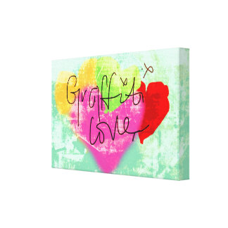 Toile d'amour de graffiti