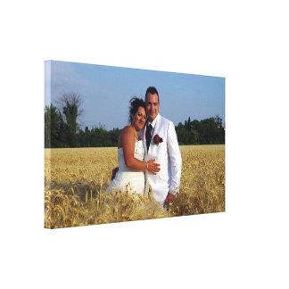 Toile dans le blé horizon