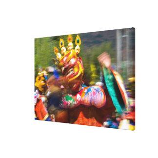 Toile Danseur costumé asiatique