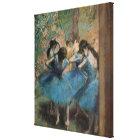 Toile Danseurs d'Edgar Degas | dans le bleu, 1890