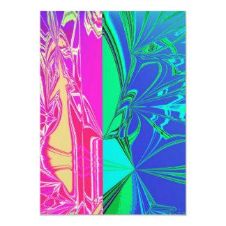 Toile d'araignée abstraite carton d'invitation  12,7 cm x 17,78 cm
