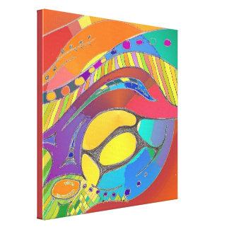Toile d'art abstrait légère cellulaire toiles