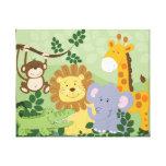 Toile d'art animale de crèche de safari de jungle  impressions sur toile