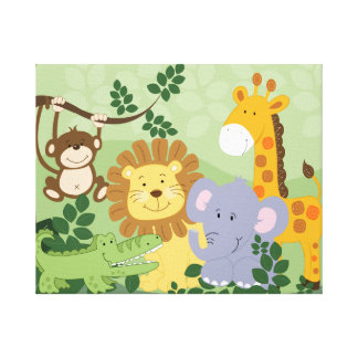Toile d'art animale de crèche de safari de jungle  toiles