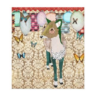 Toile d'art asiatique fatiguée de cerfs communs toile tendue sur châssis