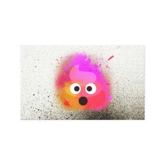 Toile d'art colorée de mur de peinture de jet