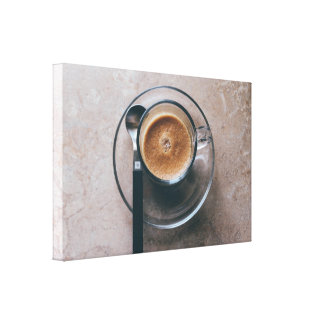 Toile d'art de mur de cuisine de café toiles