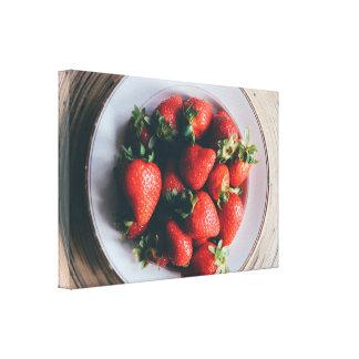Toile d'art de mur de cuisine de fraises toiles