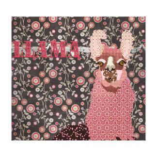 Toile d'art florale vintage de Brown de lama rose Toiles Tendues Sur Châssis