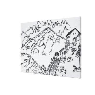 Toile d'Asco rocailleux | Corse, France de Val