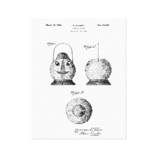 Toile de brevet de Latern de citrouille