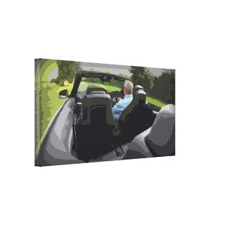 Toile de cabriolet de voiture de sport avec la