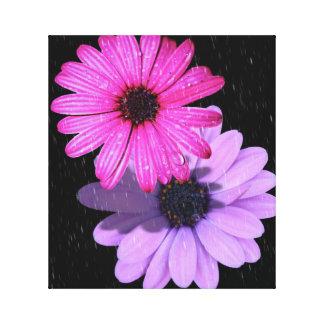 Toile de goutte de pluie de fleur