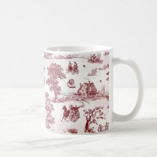 Toile De Jouy - après-midi vintage Mug Blanc