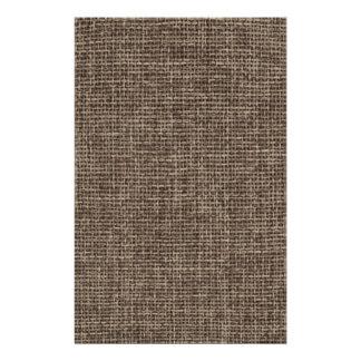 Toile de jute rustique de Faux de Brown Papier À Lettre Personnalisé