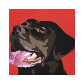 Toile de Labrador de chocolat