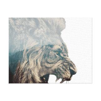 Toile de lion de forêt