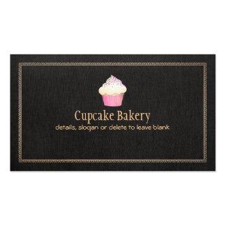 Toile de noir de Faux de boulangerie de petit Modèles De Cartes De Visite