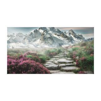 Toile de paysage de chemin de montagne de Milou Toiles