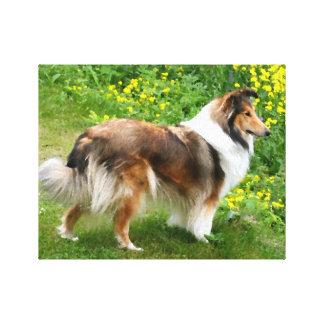 Toile de peinture de chien de berger de Sheltie