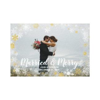 toile de photo de vacances de Noël marié et Joyeux